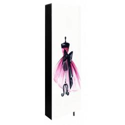 Obrotowa szafa na buty Daf sukienka róż