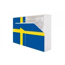 Ravenna - szafka na buty lakierowana biały MAT FIN